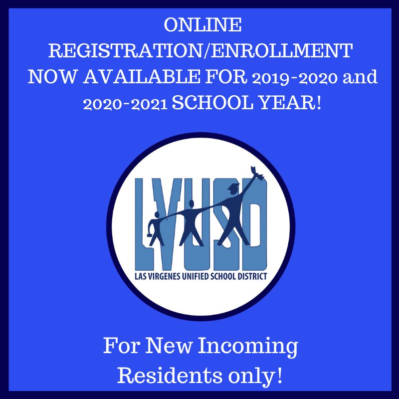 ONLINE ENROLLMENT for the 2019-2020 (current) School Year and the 2020-2021 (next) School Year