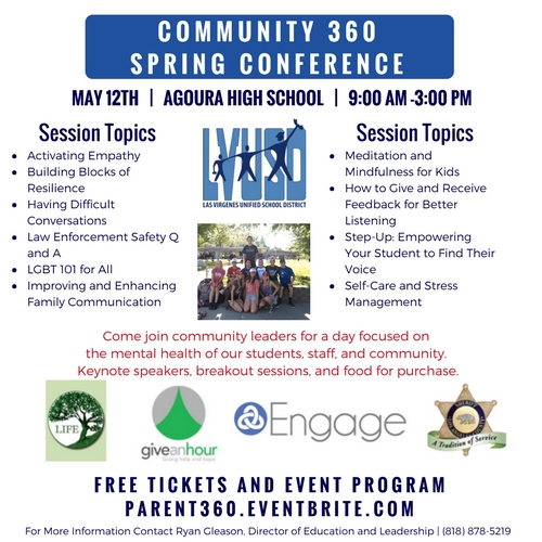 Community 360 Spring Conference 5/12 @AHS