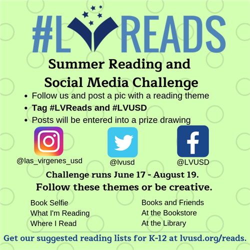 LVReads is a summer reading program for all students from preschool through high school.