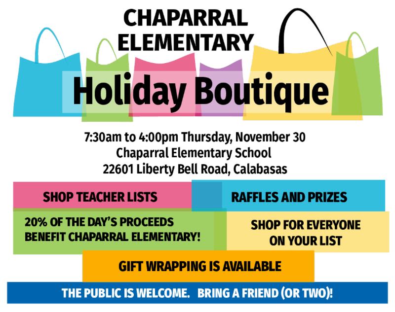 Chaparral's Annual Holiday Boutique