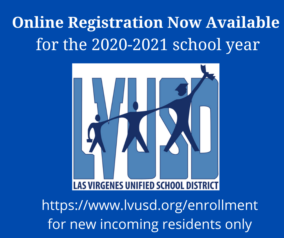 NEW Student Online Registration for 2020-2021 School Year