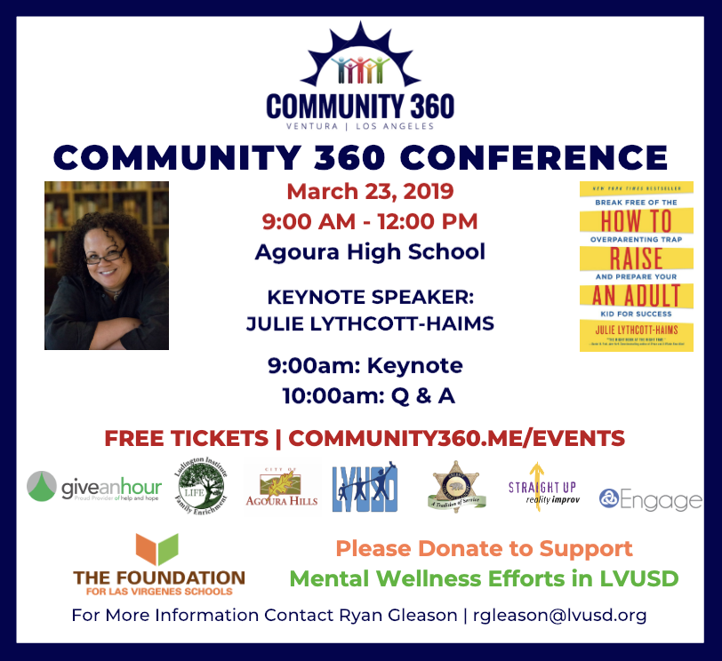 Please join me on March 23rd for our Community 360 Conference and at our upcoming movie screenings,