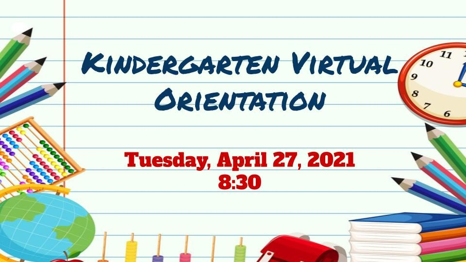 White Oak Kindergarten Orientation Video