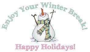 WINTER RECESS! School will be closed 12/21-1/4