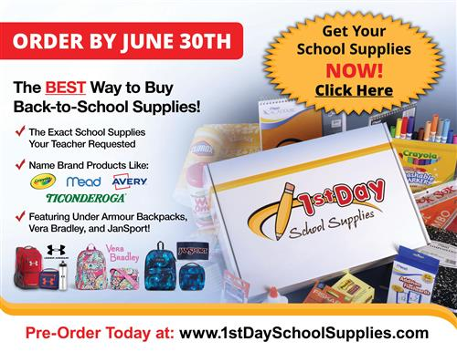 Order School Supplies for Next Year!