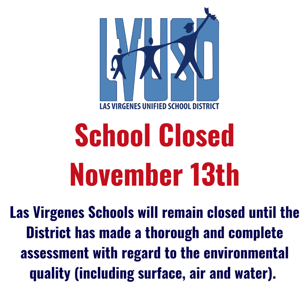 School Closed through Tuesday, November 13th