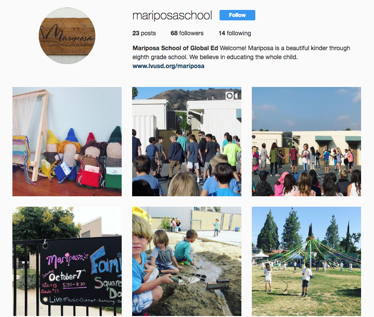Follow us on Instagram @mariposaschool