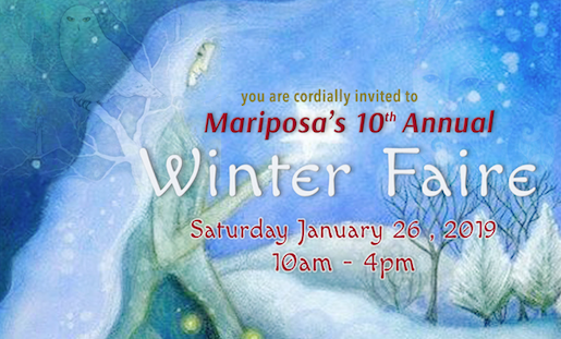 It is Winter Faire time! Saturday, January 26th 10am-4pm