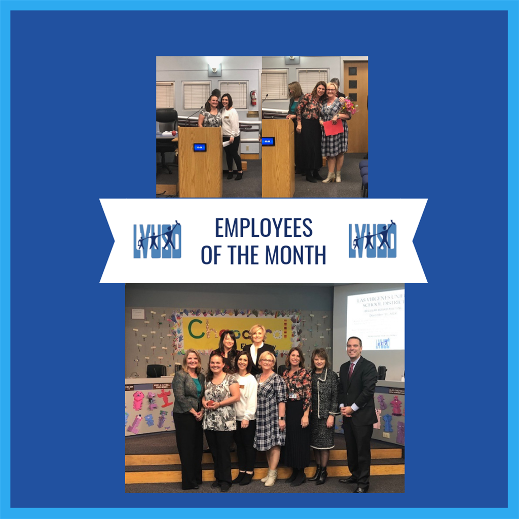 Congratulations to our November Employees of the Month
