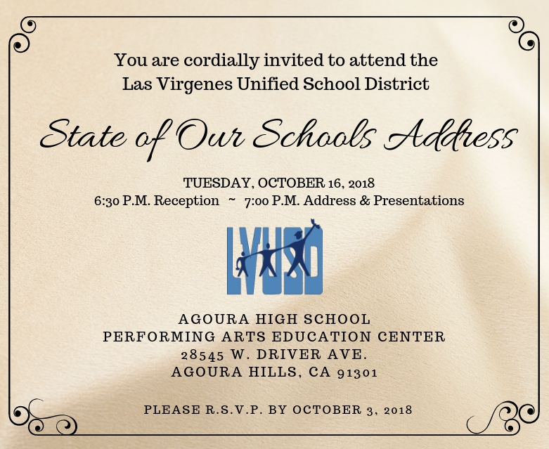 You're Invited: 2nd Annual State of Our Schools Address