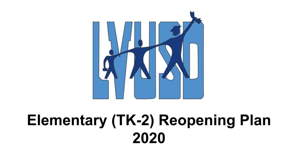 Elementary (TK-2) Reopening Plan 2020 Video