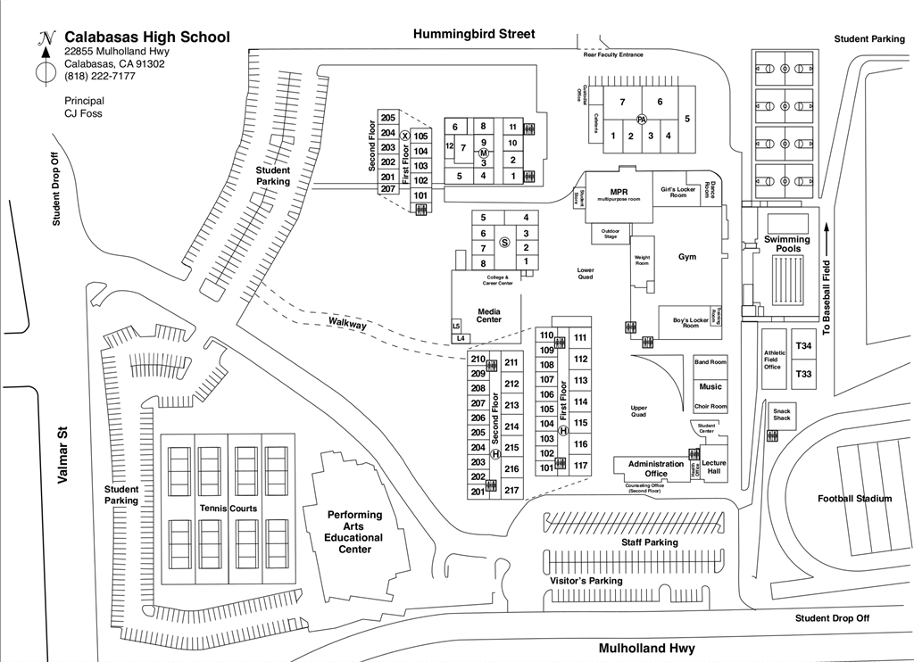 photo regarding High School Football Field Diagram Printable titled Campus Map / Map