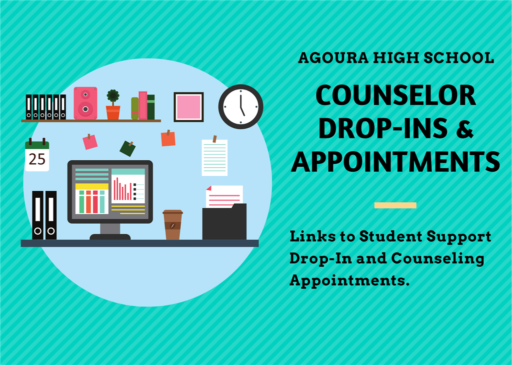 Need to meet with your Counselor?  Read more for times and links.