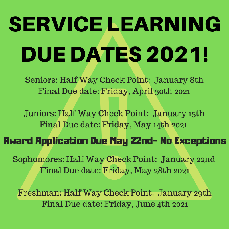 Service Learning 2021