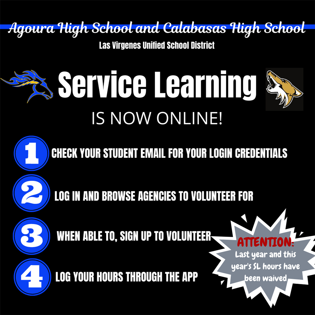 NEW Online Service Learning Program for AHS and CHS Students.