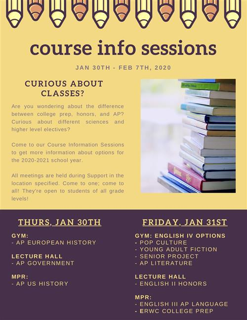 Course Info Sessions