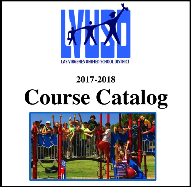 LVUSD Course Catalog cover